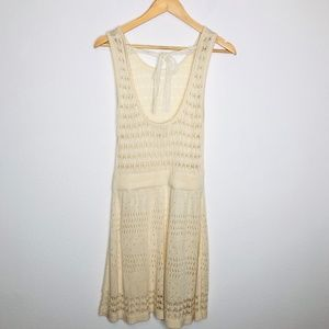 Flying Tomatos Ivory Lace Dress Size Large Boho